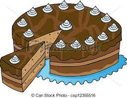 Square Piece Chocolate Cake Clipart