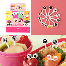 expression cuisine 10pcs lot plastic fruit toothpick lovely eye expression