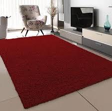 sanat teppich wohnzimmer rot hochflor langflor teppiche modern größe 80x150 cm