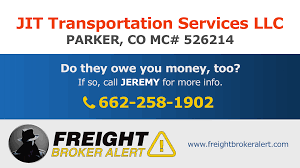 JIT Transportation Services LLC | Freight Broker Alert Best Tip Ever Cpg Can Use Jit Transportation Services Llc Freight Broker Alert Jhellyson Musiian From Dangerous Boyz College Of Just In Time Truckload Solutions Medical Device Pharmaceutical Service For Automation Agricultural Logistics Jit Plus Michigan Based Full Service Trucking Company Attention Editors Publication Embargo Tuesday 062017 2030 The 2018 Heavy Duty Aftermarket Trade Show Sales Kenworth Mix Trucks Is Chaing Fleet Owner Big Columbus Day Trailer Skirt Sales Oct 8th Till 14th