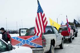 Confederate Flag-bearing Trucks Park Outside Michigan School Steve King Provokes Criticism For Displaying Confederate Flag Proconfederate Flag Rally Stone Mountain Park Youtube Truck Stock Photos Demstration Outside Bay City Western High School Fire Flew The Daily Beast South Carolina Primary Donald Trump Accused Of Supporting Removal 1278793 Applejack Artistgreenmachine987 Artistthatguy1945 Cop Flies At Antitrump Protest Spotted Next To Ncaa Tournament Venue In Watch This Guy Run Through Traffic To Take Down A Hey Kid Put Away That You Look Like An Idiot And