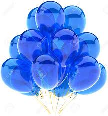 Party balloons blue translucent Modern shiny cyan decoration for birthday holiday celebration Fun joyful