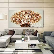 leinwand gemälde handgemalte spachtel 3d textur blume wandbilder für wohnzimmer weihnachtsschmuck für zu hause