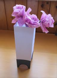 Separate The Paper Along Creases And Your Vase Is Finished