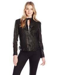 cole haan women u0027s signature leather moto jacket at amazon women u0027s