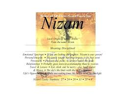 Nizam Is Arabic Male Name Means Disciplined Local Origin Of African From The