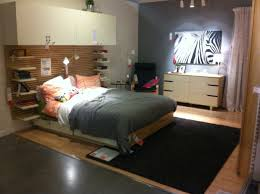 this is the ikea in store display of the mandal series bed