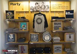 T Shirt Display At The KegWorks Store