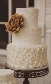 Three Tier White Textured Wedding Cake