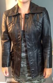real true opera vintage leather jacket xsmall or 9 10 women