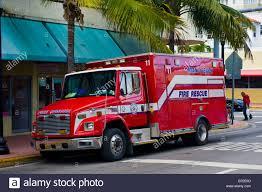 Miami Beach , Emergency Service , Fire Rescue Truck ,