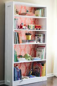 Bookshelf Makeover Use Removable Wallpaper To Customize It