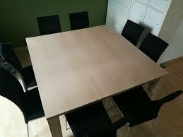 esstisch esszimmertisch tisch mit 8 stühlen quadratisch