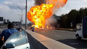 100 Truck Explosion Russian Gas HD YouTube