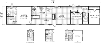 Fleetwood Triple Wide Mobile Home Floor Plans by Mcallen 15 X 76 1153 Sqft Mobile Home Factory Expo Home Centers
