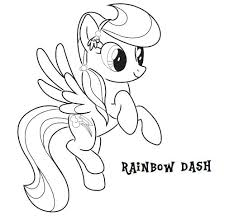 My Little Pony Coloring Pages Rainbow Dash Filly Human Home