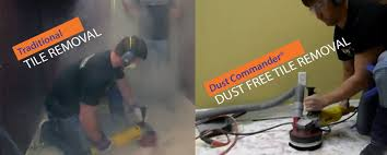 Dustless Tile Removal Dallas by The Dust Commander System