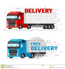 100 Free Truck Two Delivery S Flat Design Vector Illustration Fast
