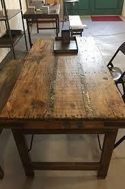 stuff loft vintage esstisch tisch aus holz klappbar shabby chic brown 165 x 75 x 76 cm
