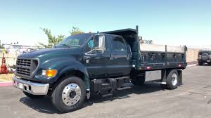 2000 Ford F650 SD Crew Cab 14' Dump Truck - YouTube