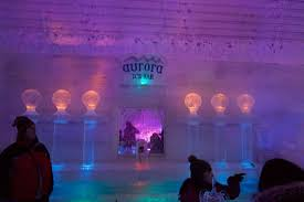 The famous Aurora Ice Bar Picture of Alaska Northern Lights Tour