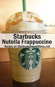 Starbucks Secret Menu Nutella Frappuccino