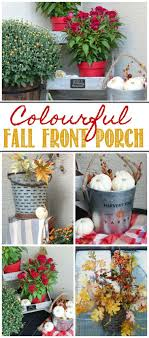 Colorful Fall Porch Decorating Ideas I Love All Of The Different Elements