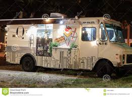 100 Food Trucks Miami Beach Night Image Of In A Park 4 Editorial Photography Image