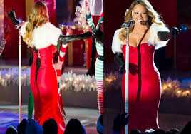 Christmas Tree Rockefeller 2017 by Mariah Carey Slips Into Plunging Red And White Dresses To Sing At