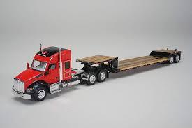 100 Toy Kenworth Trucks T880 Sleeper Cab Massey Ferguson W Fontaine Renegade Lowboy Trailer 164 Scale Diecast Model Speccast 30556