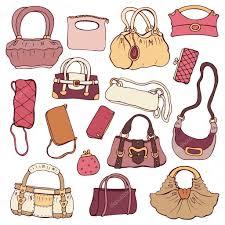 women u0027s handbags hand drawn vector set u2014 stock vector