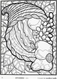 Cornucopia Thanksgiving Coloring Page