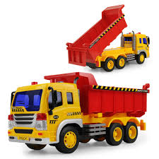 100 Big Toy Dump Truck 116 Scale Model Inertial Car For Kids Gift With