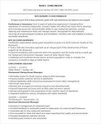 Sales Floor Manager Resume