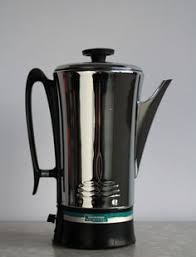 Vintage CoffeeMatic Percolator 1950s Coffee Pot Chrome Universal Brand