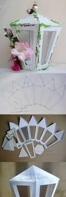 Bricoler Un Lanterne En Papier Patron Gratuit Diy LanternLantern MakingDiy Paper