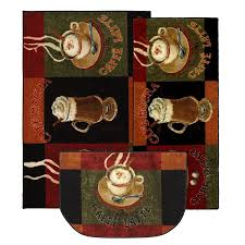 Mohawk Home New Wave Caffe Latte Primary Printed Rug Coffee Themed Kitchen