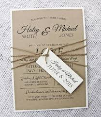 Rustic Wedding Invitation Modern Shabby Chic Handmade