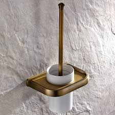 luxus messing antik wc bürstenhalter keramik tasse bad accessoires wc reinigung halter t05