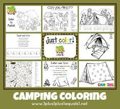 Free Coloring Printables Camping Theme