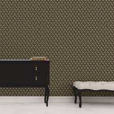 ornamenttapete tea time mit blättern in braun design tapete für wohnzimmer
