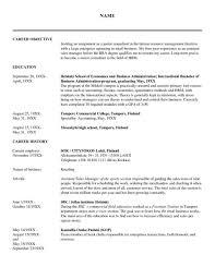 Sample Resume For Human Resource Graduate