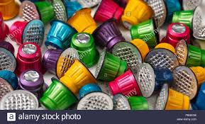 Colorful Used Espresso Coffee Capsules Background Closeup View With Details