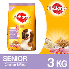 Small Non Shedding Dogs For Seniors by Pedigree Chicken U0026 Rice For Senior Dog 3 Kg Dogspot Online