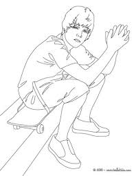 Justin Bieber Portrait Seated Coloring Page