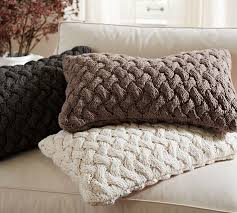 Pottery Barn Decorative Pillows by Braided Hand Knit Lumbar Pillow Pottery Barn