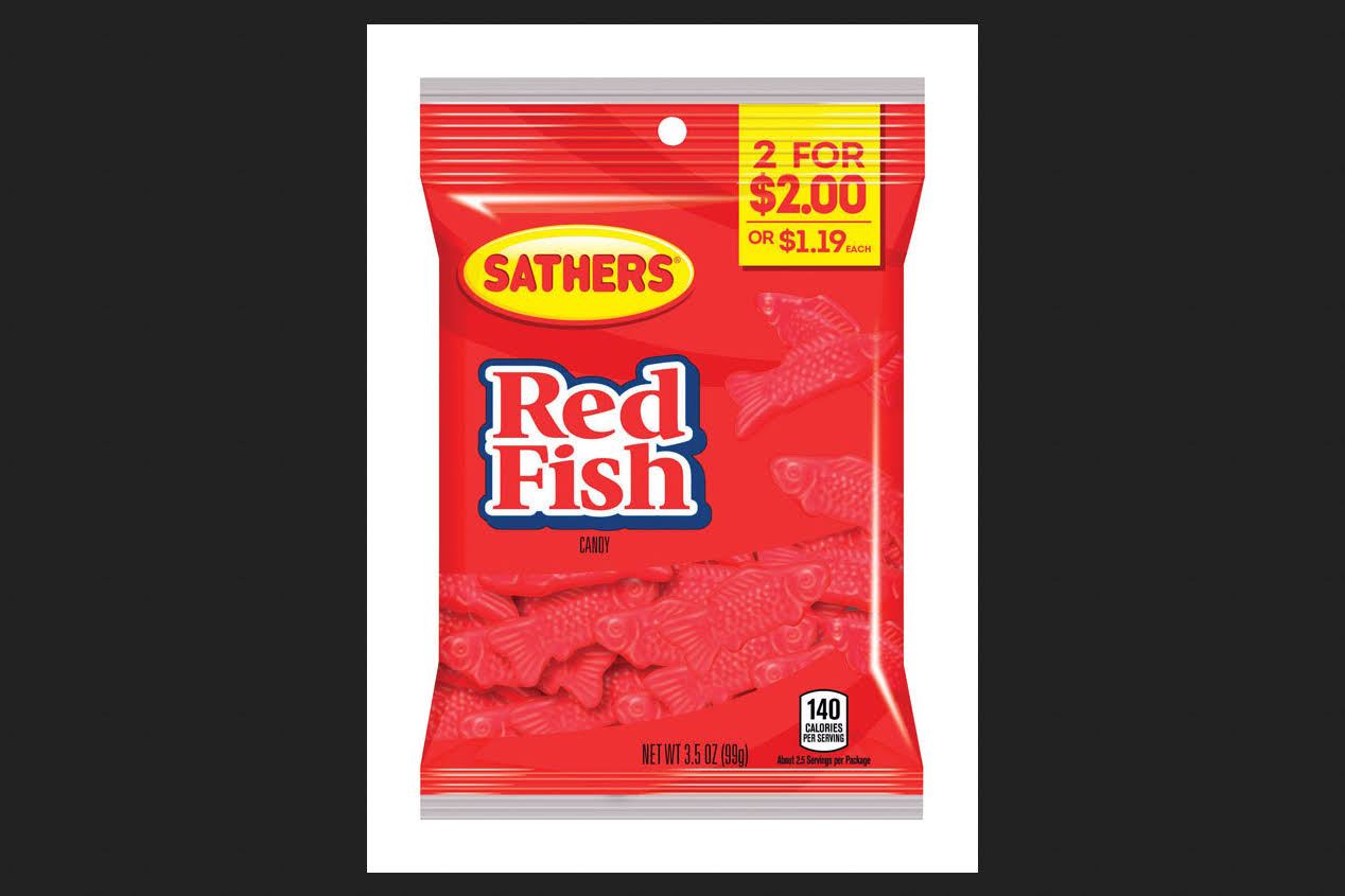 Sathers Red Fish Candy 3.5oz