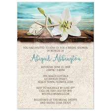 Beach Theme Bridal Shower Invitations Wording