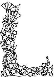 Alphabet Flowers Letter L Coloring Pages