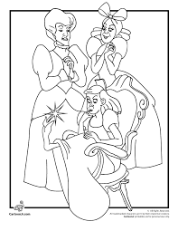 Disneys Cinderella Coloring Pages Cinderellas Stepsisters And Stepmother Page Cartoon